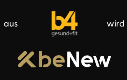 b4fit wird zu beNew heubach fitness-studio